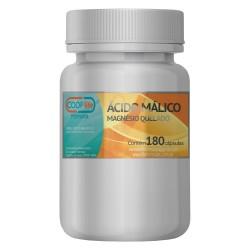 Ácido málico 400mg + Magnésio quelado 180mg - 180 cápsulas