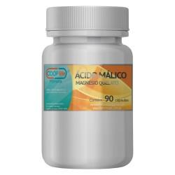 Ácido Málico + Magnésio Quelato 90 CAPS / trata dores e cansaço causados pela Fibromialgia