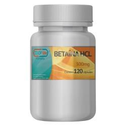 Betaína HCL 300mg Com 120 Cápsulas